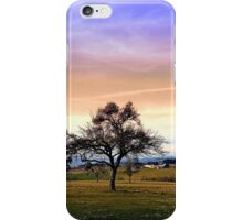 Old tree and amazing cloudy sky | landscape photography iPhone Case/Skin