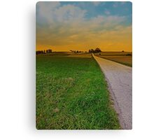 Country road on a summer afternoon | landscape photography Canvas Print