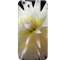 White Dahlia iPhone Case/Skin