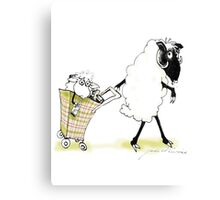 sheep shopping Canvas Print