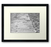 Newcastle Baths Jetty in High Sea Framed Print