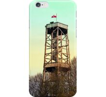 Observation tower in vivid colors | architectural photography iPhone Case/Skin