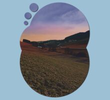 Beautiful valley scenery in the evening   landscape photography Kids Clothes