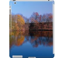 Indian summer reflections at the pond | waterscape photography iPad Case/Skin