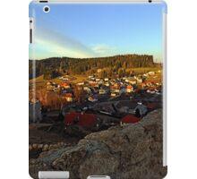 Village skyline below the castle at sundown   landscape photography iPad Case/Skin