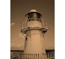Lighthouse, Sea Wall. Newport Photographic Print