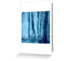 Icy cool blue abstract design Greeting Card