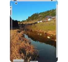 A river, the valley and traditional farmland | waterscape photography iPad Case/Skin