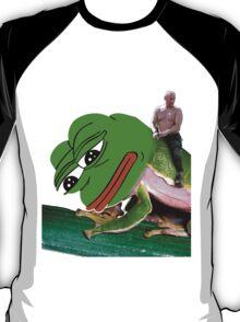 Putin Riding Pepe Frog T-Shirt