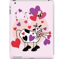 Cow Love with a Bumble Bee iPad Case/Skin