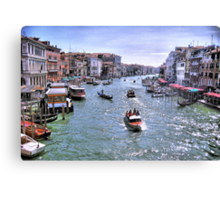 Rush Hour In Venice! Canvas Print