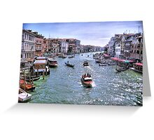 Rush Hour In Venice! Greeting Card