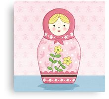 Matryoshka Doll Pink Canvas Print