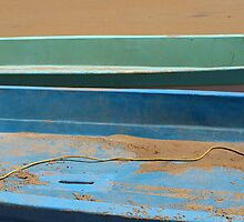 Fishing boats, Mamallapram, India by Syd Winer