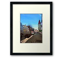 Pictoresque traditional village center | architectural photography Framed Print