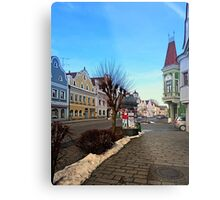 Pictoresque traditional village center | architectural photography Metal Print