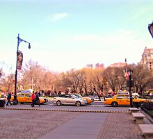 Taxis Central Park South by Pipewrench67