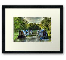 Narrowboat Classix - Foxton Framed Print