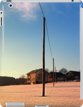 Powerline, sundown and winter wonderland | landscape photography by Patrick Jobst