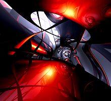 Swirling Venom Abstract by Alexander Butler