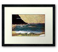 Salt Water In Your Veins Framed Print