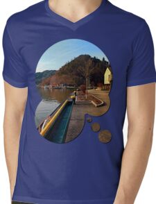 River Danube valley, at the harbour | waterscape photography Mens V-Neck T-Shirt