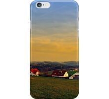 Sunset, the village and panorama   landscape photography iPhone Case/Skin