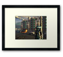 Blue Man: Black Candle at Midnight Framed Print