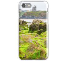 ballybunion castle algae covered rocks iPhone Case/Skin