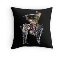 3 Character Tee 1 - Maxi, Raphael and Yoshimitsu Throw Pillow