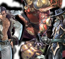 3 Character Tee 1 - Maxi, Raphael and Yoshimitsu Sticker
