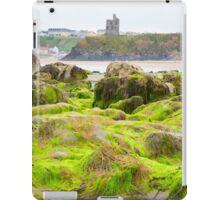 ballybunion castle algae covered rocks iPad Case/Skin