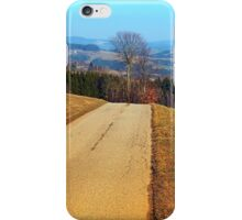 Tree in the middle of the road | landscape photography iPhone Case/Skin