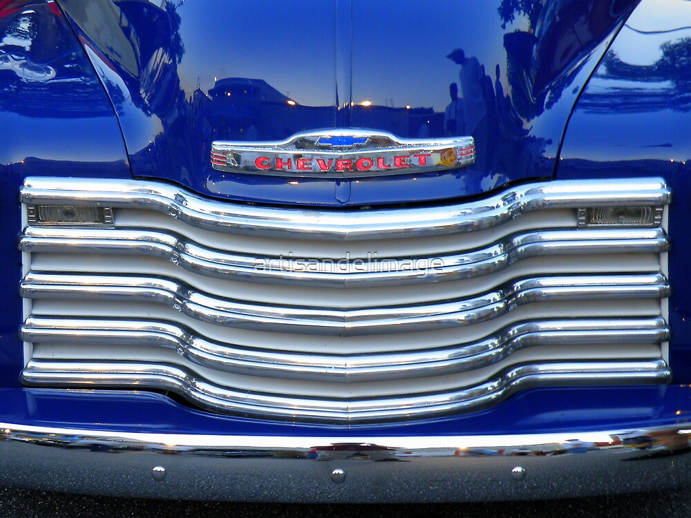 Chrome And Blue, by Chevrolet by artisandelimage
