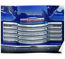 Chrome And Blue, by Chevrolet Poster