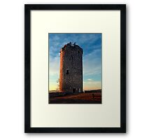 The tower of Waxenberg castle in the sunset | architectural photography Framed Print