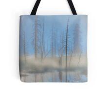 Tree Skeletons at Dawn.  Yellowstone National Park. Wyoming. USA. Tote Bag