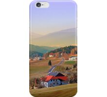 Country road in amazing panorama | landscape photography iPhone Case/Skin