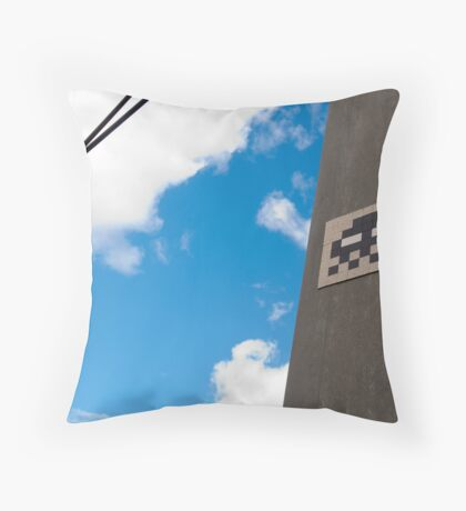 Invaded by Pixel Bugs! Throw Pillow