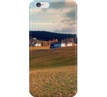 Meadows and farms in rural scenery | landscape photography iPhone Case/Skin