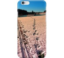 Footprints in snowy winter wonderland | landscape photography iPhone Case/Skin