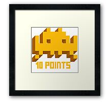 10 Points: Space Invaders Framed Print