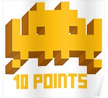 10 Points: Space Invaders Poster