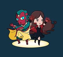 The Vision and the Scarlet Witch by JoSumdac