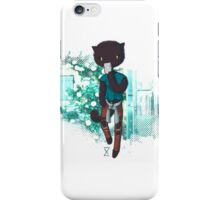 Cool Kitty with mobile iPhone Case/Skin