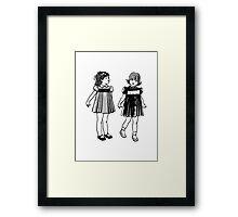RETRO GIRLS CUTE Framed Print