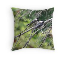 Black-Capped Chickadee (2010 Calendar Feb) Throw Pillow