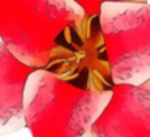 Hothouse Flower (Red on White) Sticker