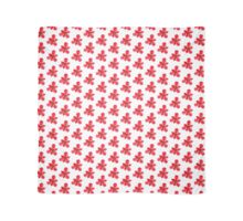 Hothouse Flower (Red on White) Scarf