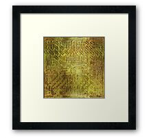 Golden Dragon Scales Framed Print